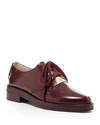 French Connection Maeko Lace Up Oxfords Biker Berry