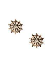 Sparkling Sage Floral Stud Earrings Compare At 63 Gold Clear