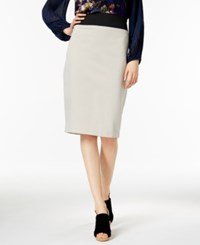 Inc International Concepts Curvy Fit Pencil Skirt Only At Macy's Toad Beige