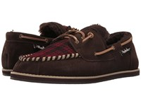 Woolrich Austin Potter Red Hunting Plaid Wool Java Men's Slippers Brown