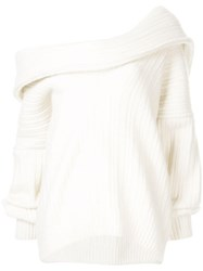 Jacquemus Oversized Ahwa Jumper White