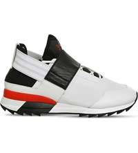 Adidas Y3 Atira Textile And Mesh Trainers White Black Scarlet