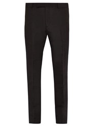 Dunhill Mulberry Silk Slim Leg Trousers Black
