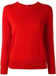 Marc Jacobs Buttoned Jumper Red