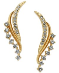 Eliot Danori Gold Tone Crystal Angel Wing Earrings