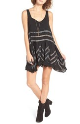 Free People Women's Swingy Lace Inset Tunic Black Combo