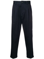Pt01 Tailored Crop Trousers Blue
