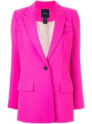 Smythe Tailored Longline Blazer Pink
