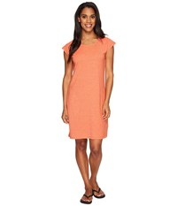 Nau Short Sleeve Kanab T Shirt Dress Poppy Heather Women's Dress Orange