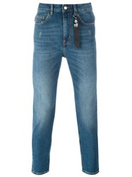 Love Moschino Peace Patch Slim Jeans Blue