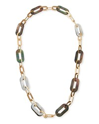 Vhernier Bisquit 18K Pink Gold White And Grey Mother Of Pearl Chain