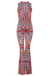 Aztec Print Flared Jumpsuit By Jaded London Multi
