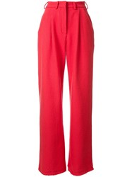 Tatuna Nikolaishvili High Waisted Trousers Red