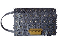 Zac Posen Earthette Crossbody With Signature Hardware Blue