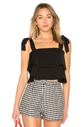 By The Way Helene Tie Strap Top Black