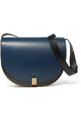 Victoria Beckham Half Moon Leather Shoulder Bag Navy