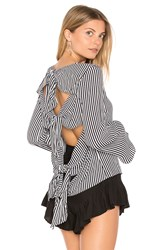 Backstage Forget Me Knot Top Black