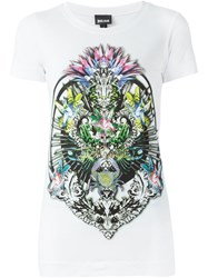 Just Cavalli Front Print T Shirt White
