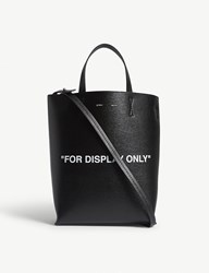 Off White C O Virgil Abloh For Display Only Leather Tote Black