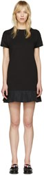 Moncler Black Peplum T Shirt Dress