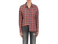 Adaptation Women's Plaid Washed Twill Shirt Red