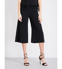Jonathan Simkhai Wide Leg Crepe Trousers Black