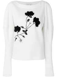 Si Jay Embroidered Top White