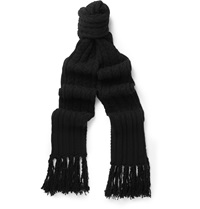 Tom Ford Cable Knit Cashmere Scarf Black