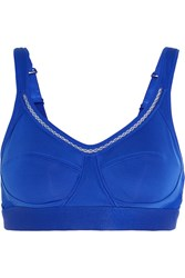 Adidas By Stella Mccartney The Performance Climacool Mesh Paneled Stretch Sports Bra Cobalt Blue