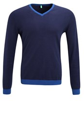 United Colors Of Benetton Jumper Blue Dark Blue
