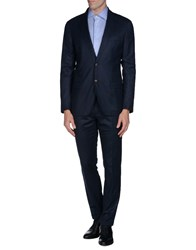 Eleventy Suits And Jackets Suits Men Dark Blue