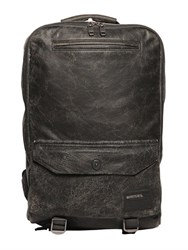 Diesel Vintage Effect Leather Backpack
