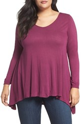 Dantelle Plus Size Women's High Low Tee Potent Purple