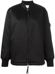 Alexander Wang T By Oversized Bomber Jacket Black