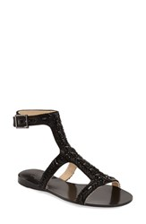 Imagine By Vince Camuto Women's Imagine Vince Camuto 'Reid' Embellished T Strap Flat Sandal