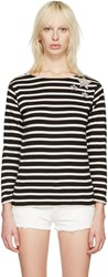 Saint Laurent Black Striped Marlon T Shirt