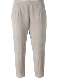 Eleventy Relaxed Fit Trousers Nude And Neutrals