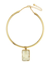 Lydell Nyc Druzy Pendant Collar Necklace