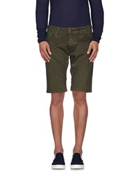Reign Denim Denim Shorts Men Green