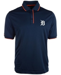 Antigua Men's Detroit Tigers Elite Polo Navy Orange