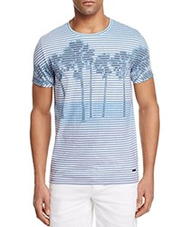 Boss Orange Stripe Palm Tree Graphic Tee Blue