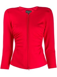 Emporio Armani Ruched Stretch Fit Jacket 60