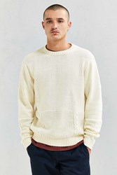 Publish Ezra Blocked Cable Knit Sweater Ivory