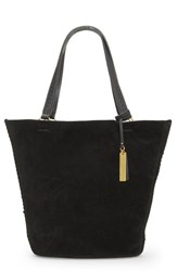 Vince Camuto Suza Leather Tote Black Jet Black