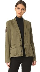 Zadig And Voltaire Virginia Grunge Army Jacket Khaki