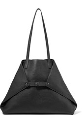 Akris Ai Medium Textured Leather Shoulder Bag Black