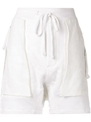 Thom Krom Relaxed Fit Shorts White