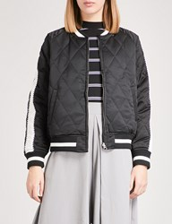 Chocoolate Reversible Quilted Bomber Jacket Black