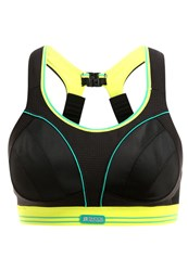 Shock Absorber Ultimate Sports Bra Schwarz Limette Black
