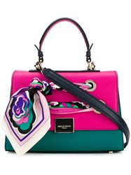 Emilio Pucci Florence Colour Block Tote Pink And Purple